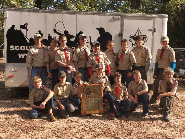 Troop 442 Fall 2016 District Camporee Overall Winner